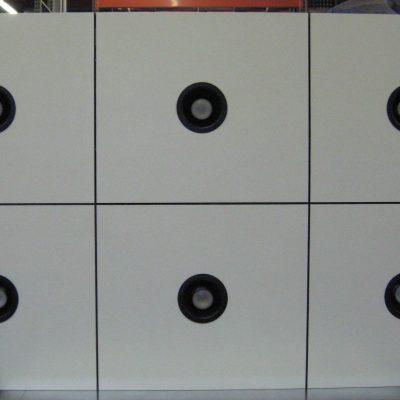 6 Panel Formica Drop w/ Black Downlights