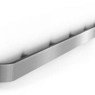 Flat Rail With Bent Edges